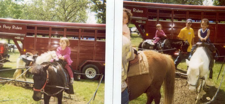 Kristopher and Jerica...They are at the fair riding the ponies.  They are soo cute!!
