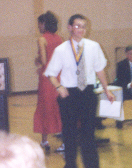 Mrs. Craig and I.  It was the Award Ceremony.  I was walking back to my seat after accepting the highest grade in Geometry for the year award.....  Yeah....Go me!